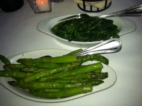 Asparagus and Spinach at Oak