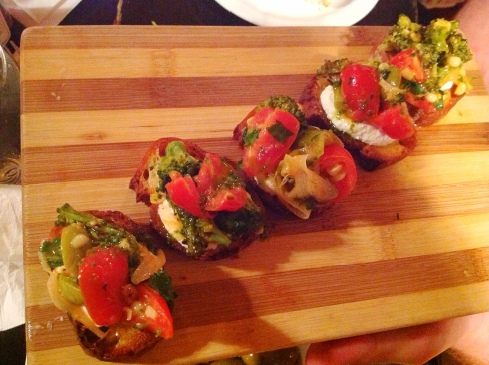 bruschetta with fresh mozzarella